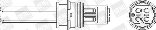 BERU  OZH143 Lambdasonde Kabellänge: 220mm