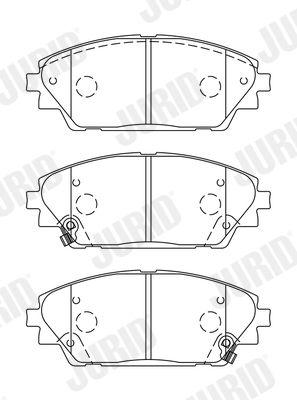 Disk brake pads JURID 25876 rating