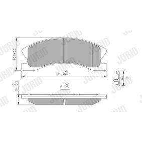JURID  573636J Bremsbelagsatz, Scheibenbremse Höhe 1: 61,05mm, Dicke/Stärke: 18,7mm