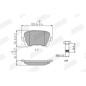 Bremsbelagsatz, Scheibenbremse Höhe 1: 56,2mm, Dicke/Stärke: 16,8mm mit OEM-Nummer 5N0698451
