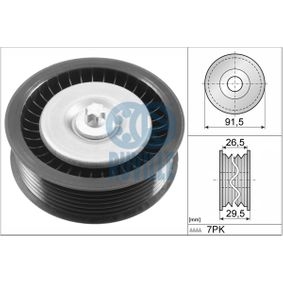 Deflection / Guide Pulley, v-ribbed belt 57537 E-Class Saloon (W212) E 350 CDI 3.0 MY 2011