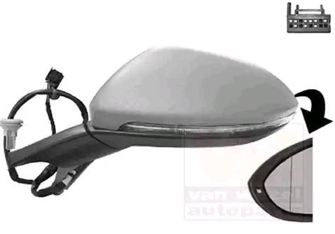 Specchietto Retrovisore 5766807 VAN WEZEL 5766807 di qualità originale
