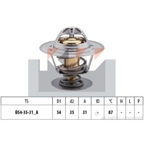 Thermostat, coolant D1: 54mm, D2: 35mm with OEM Number 068 121 113 D