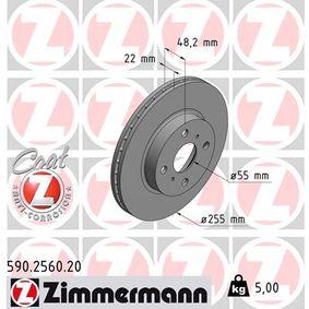 Bremsscheibe Ø: 255mm mit OEM-Nummer 4351212550