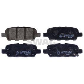 SWAG  60 11 6198 Bremsbelagsatz, Scheibenbremse Breite: 38,2mm, Dicke/Stärke 1: 14mm