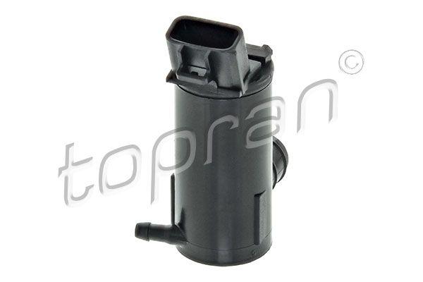 TOPRAN  600 113 Bomba de agua de lavado, lavado de parabrisas Número de polos: 2polos