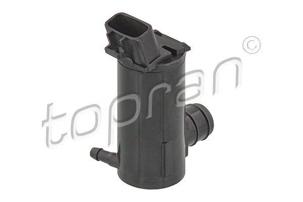TOPRAN  600 390 Waschwasserpumpe, Scheibenreinigung Pol-Anzahl: 2-polig