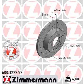 Bremsscheibe Bremsscheibendicke: 12mm, Felge: 5-loch, Ø: 256mm mit OEM-Nummer 1KD615601
