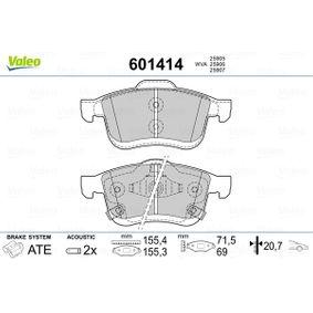Bremsbelagsatz, Scheibenbremse VALEO Art.No - 601414 OEM: 77366915 für FIAT, ALFA ROMEO, LANCIA kaufen