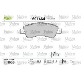 Brake Pad Set, disc brake VALEO Art.No - 601464 OEM: 1637014580 for PEUGEOT, CITROЁN, DS buy