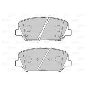 VALEO Bremsbelagsatz, Scheibenbremse 58101A6A20 für OPEL, HYUNDAI, KIA bestellen