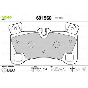 Bremsbelagsatz, Scheibenbremse VALEO Art.No - 601560 kaufen