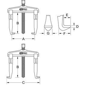 620.0105 Innen- / Außenabzieher von KS TOOLS Qualitäts Werkzeuge