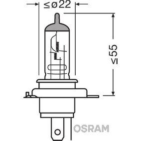 Крушка с нагреваема жичка, главни фарове (64185-01B) от OSRAM купете