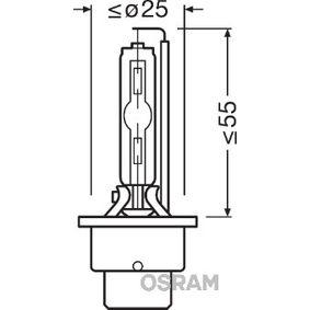 Glühlampe, Fernscheinwerfer OSRAM Art.No - 66240ULT-HCB OEM: D2S für MERCEDES-BENZ kaufen