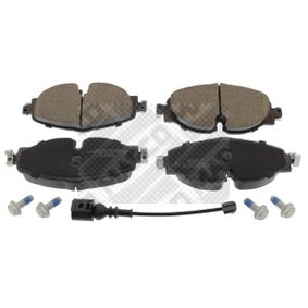 Kit de plaquettes de frein, frein à disque MAPCO Art.No - 6634HPS OEM: 5Q0698151B pour VOLKSWAGEN, AUDI, SEAT, SKODA récuperer