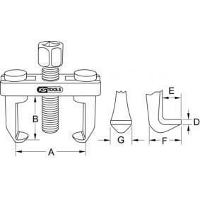 Extractor, stergator geam de la KS TOOLS 700.1185 online