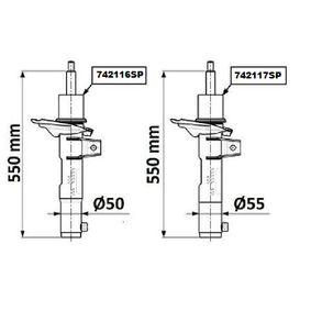 Qualitäts Stoßdämpfer MONROE 742116SP - VW GOLF
