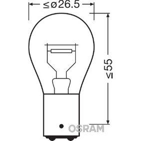Крушка с нагреваема жичка, стоп светлини / габарити (7538LDR-01B) от OSRAM купете