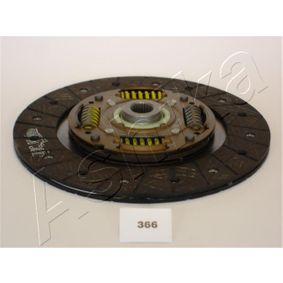 Kupplungsscheibe ASHIKA Art.No - 80-03-366 OEM: 90236616 für OPEL, MAZDA, DAEWOO, VAUXHALL kaufen