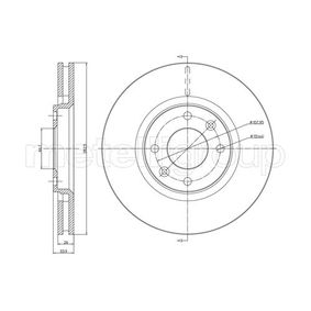 Bremsscheibe CIFAM Art.No - 800-566C OEM: 4246W2 für PEUGEOT, CITROЁN, PIAGGIO, DS, TVR kaufen
