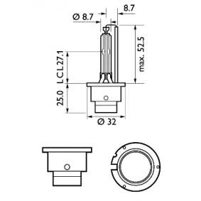 85122WHV2C1 Glühlampe, Fernscheinwerfer von PHILIPS Qualitäts Ersatzteile