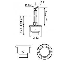PHILIPS Glühlampe, Fernscheinwerfer (85122XV2S1) niedriger Preis