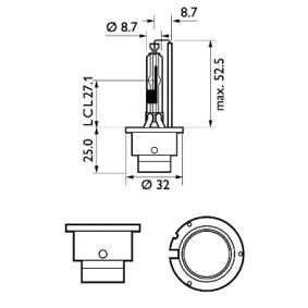 85126WHV2S1 Крушка с нагреваема жичка, фар за дълги светлини от PHILIPS качествени части