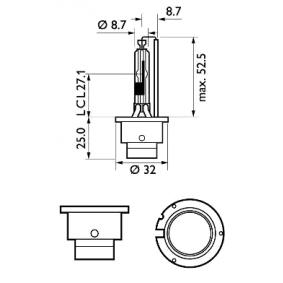 85126WHV2S1 Bulb, spotlight from PHILIPS quality parts