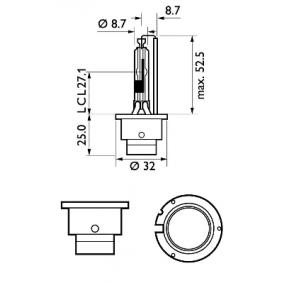 85126XV2S1 Крушка с нагреваема жичка, фар за дълги светлини от PHILIPS качествени части