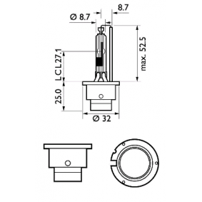 85126XV2S1 Bulb, spotlight from PHILIPS quality parts