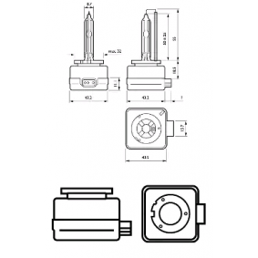 85415WHV2C1 Glühlampe, Fernscheinwerfer von PHILIPS Qualitäts Ersatzteile