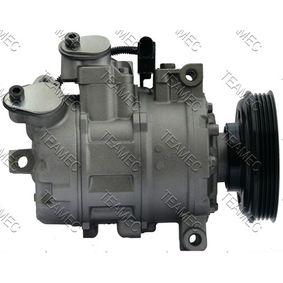 Compresor, aire acondicionado TEAMEC Art.No - 8629708 OEM: 8E0260805AH para VOLKSWAGEN, SEAT, AUDI, VOLVO, SKODA obtener
