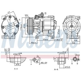 Ac compressor (89405) producer NISSENS for FIAT PANDA (169) year of manufacture 09/2003, 60 HP Online Shop