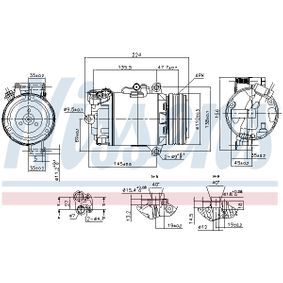 Klimakompressor NISSENS (89483) für BMW X3 Preise