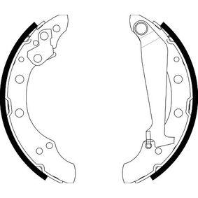 Bremsbackensatz HELLA Art.No - 8DB 355 001-311 OEM: 6Q0698525AX für VW, AUDI, SKODA, SEAT kaufen