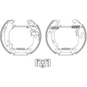 HELLA Drum brake kit 8DB 355 004-891