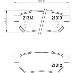 Комплект спирачно феродо, дискови спирачки HELLA Art.No - 8DB 355 005-731 OEM: GBP90316AF за HONDA, SKODA, ROVER, MG купете
