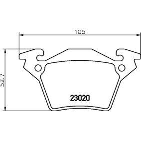 Bremsbelagsatz, Scheibenbremse HELLA Art.No - 8DB 355 008-641 OEM: A0004214210 für MERCEDES-BENZ kaufen