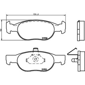 HELLA Repair kit, wheel suspension 8DB 355 009-231