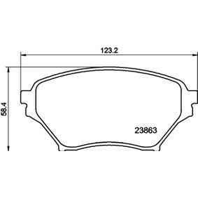 Bremsbelagsatz, Scheibenbremse HELLA Art.No - 8DB 355 010-261 OEM: N0Y93323Z für MAZDA, MERCURY kaufen