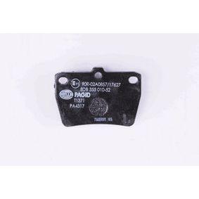 RAV 4 II (CLA2_, XA2_, ZCA2_, ACA2_) HELLA Brake pad set disc brake 8DB 355 010-521