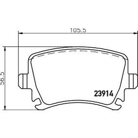 Bremsbelagsatz, Scheibenbremse HELLA Art.No - 8DB 355 010-601 OEM: JZW698451D für VW, AUDI, SKODA, SEAT kaufen