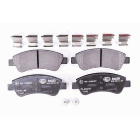 HELLA Brake Pad Set, disc brake 1613192280 for PEUGEOT, CITROЁN, DS, PIAGGIO acquire