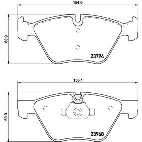Bremsbelagsatz, Scheibenbremse HELLA Art.No - 8DB 355 011-321 OEM: 34116799166 für BMW kaufen