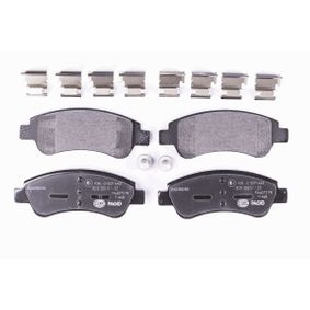 HELLA Brake Pad Set, disc brake E172124 for PEUGEOT, CITROЁN, DS, PIAGGIO, TVR acquire