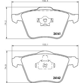 Bremsbelagsatz, Scheibenbremse HELLA Art.No - 8DB 355 011-721 OEM: 30769125 für VOLVO, SATURN kaufen