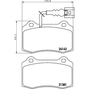 Bremsbelagsatz, Scheibenbremse HELLA Art.No - 8DB 355 011-741 OEM: 1ML698151 für VW, AUDI, SKODA, SEAT kaufen