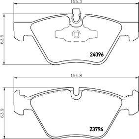 Bremsbelagsatz, Scheibenbremse HELLA Art.No - 8DB 355 011-941 OEM: 34116797859 für BMW kaufen