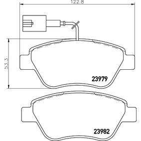 Bremsbelagsatz, Scheibenbremse HELLA Art.No - 8DB 355 012-841 OEM: 77364517 für FIAT, ALFA ROMEO, LANCIA, ABARTH kaufen